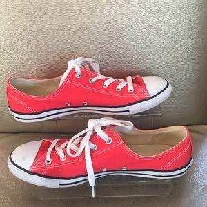 Converse All Star Neon Orange Low Top Sneakers